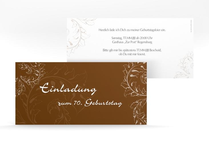 "Einladungskarte ""Peter/Petra"" DIN lang braun"