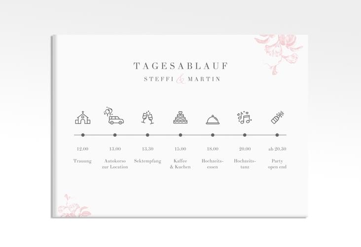"""Tagesablauf Leinwand Hochzeit """"Magnificent"""" 70 x 50 cm Leinwand rosa"""