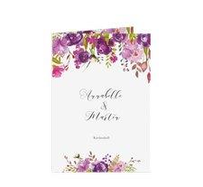 """Kirchenheft Hochzeit """"Violett"""""""