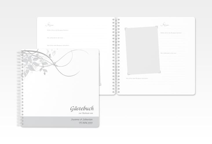"Gästebuch Hochzeit ""Florenz"" Ringbindung grau"