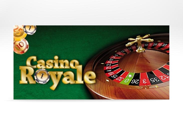 "Partyeinladung ""Casino"" DIN lang"