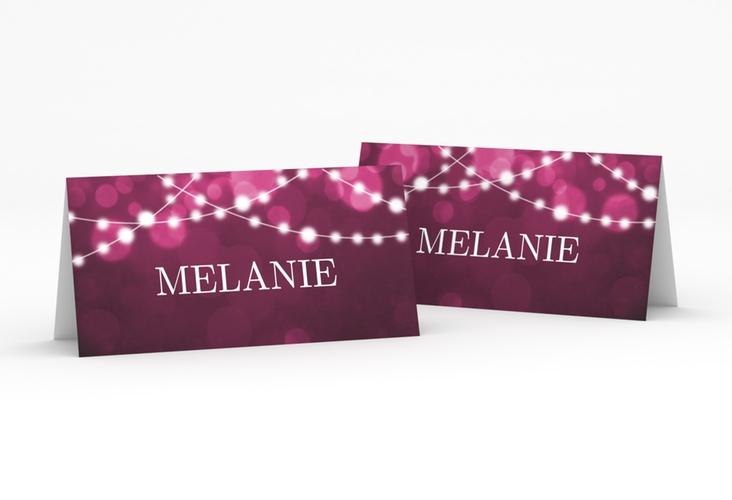 """Tischkarte Hochzeit """"Lichtspiel"""" Tischkarten pink"""