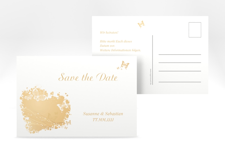 "Save the Date-Postkarte ""Mailand"" A6 Postkarte beige"