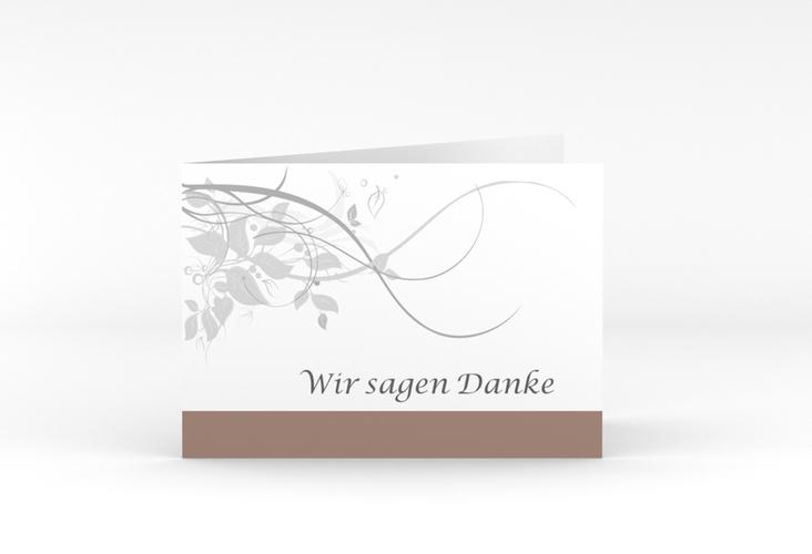 """Danksagungskarte Hochzeit """"Florenz"""" A6 Klappkarte Quer"""