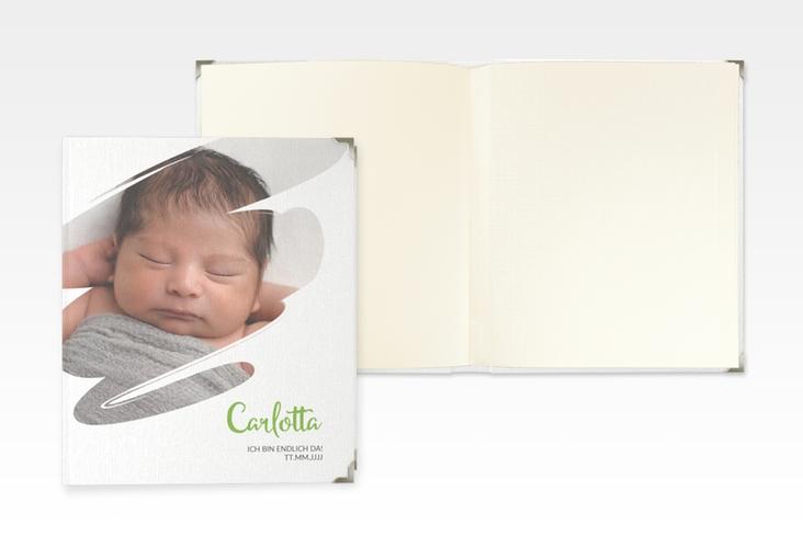 "Baby Fotoalbum ""Wunder"" 21 x 25 cm gruen"