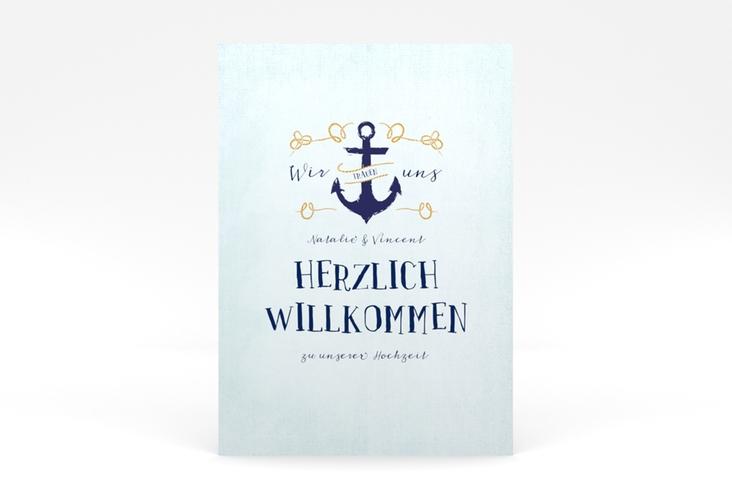 """Willkommensschild Poster """"Anker"""" 50 x 70 cm Poster"""