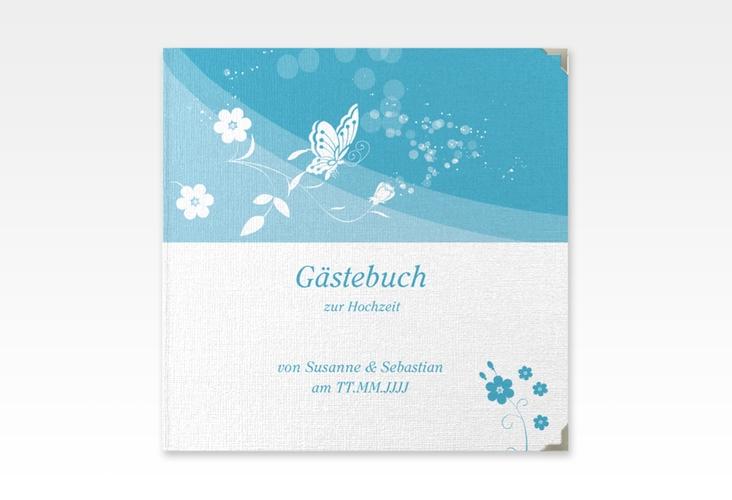"""Gästebuch Selection Hochzeit """"Verona"""" Leinen-Hardcover tuerkis"""