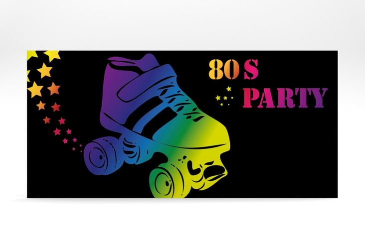 "Partyeinladung ""Eighties"" DIN lang"