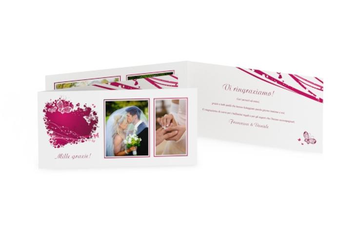 Ringraziamenti matrimonio collezione Milano DIN lang Klappkarte