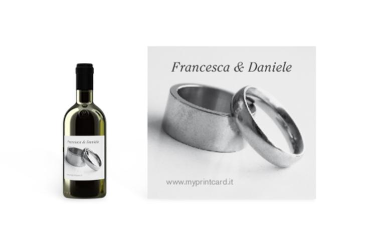Etichette piccolo matrimonio collezione Siviglia Etikett Piccolo