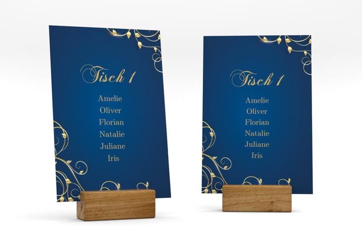 """Tischaufsteller Hochzeit """"Eternity"""" Tischaufsteller blau"""