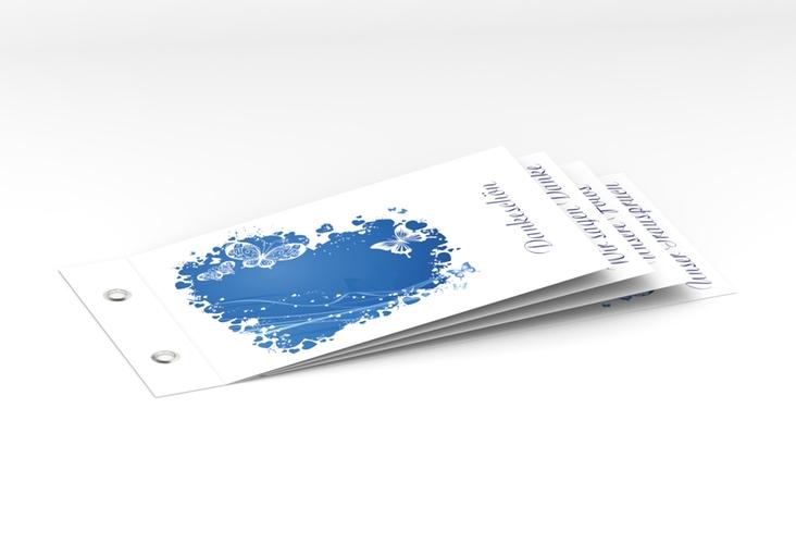 """Danksagungskarte Hochzeit """"Mailand"""" Booklet blau"""