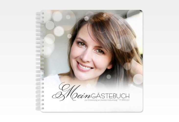 """Gästebuch Geburtstag """"Luminous"""" Ringbindung schwarz"""