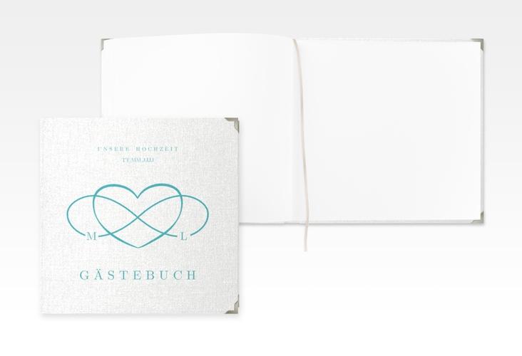 "Gästebuch Selection Hochzeit ""Infinity"" Hardcover tuerkis"