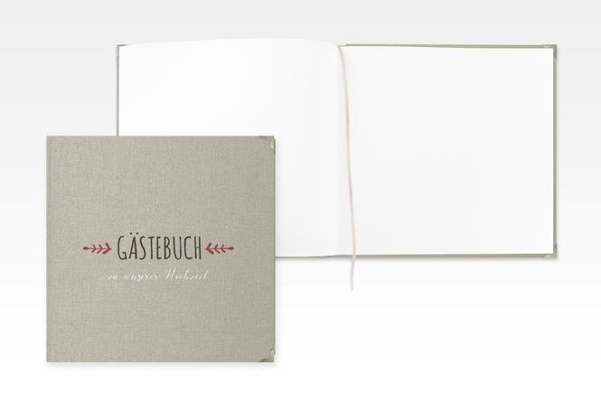 """Gästebuch Selection Hochzeit """"Eden"""" Hardcover rot"""