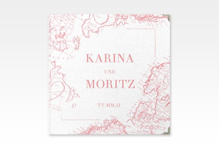"""Gästebuch Selection Hochzeit """"Voyage"""" Leinen-Hardcover rosa"""