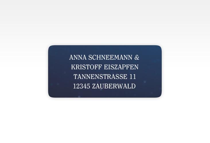 """Absenderetikett Hochzeit """"Winterdream"""" 45,7 x 21,2 mm"""