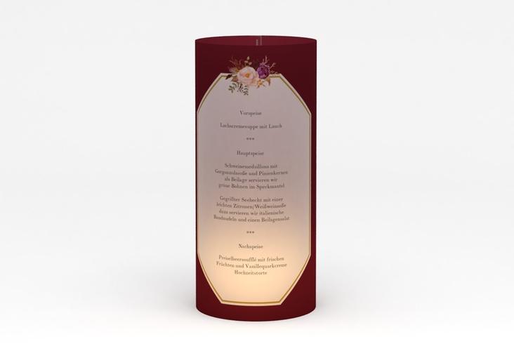 """Windlicht Menü Hochzeit """"Prachtvoll"""" Windlicht rot"""