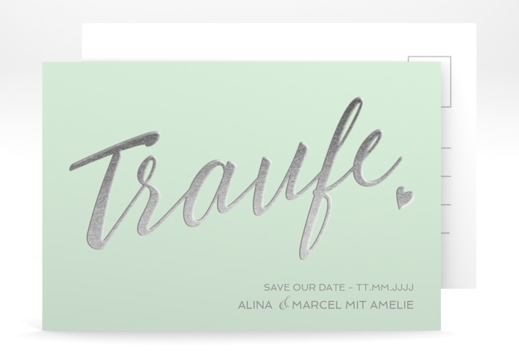 "Save the Date-Postkarte ""Traufe"" A6 Postkarte mint"