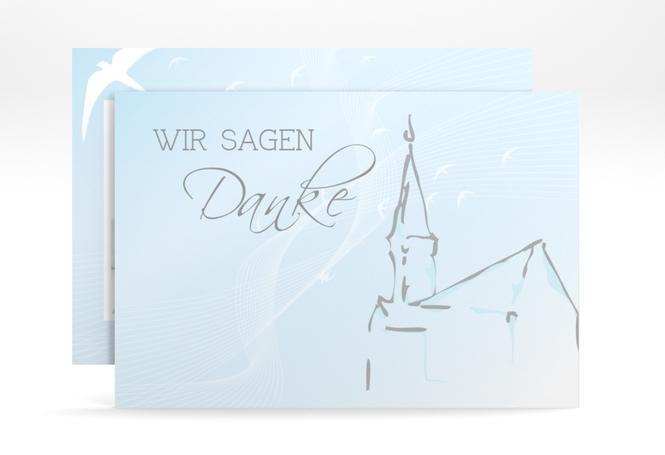 "Dankeskarte Taufe ""Church"" A6 Karte"