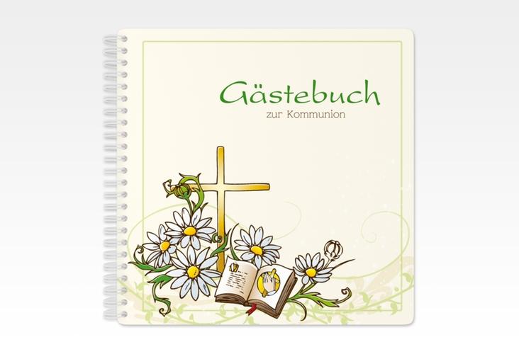 "Gästebuch Kommunion ""Margeriten"" Ringbindung"