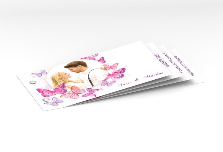 """Hochzeitseinladung """"Schmetterlinge"""" Booklet"""