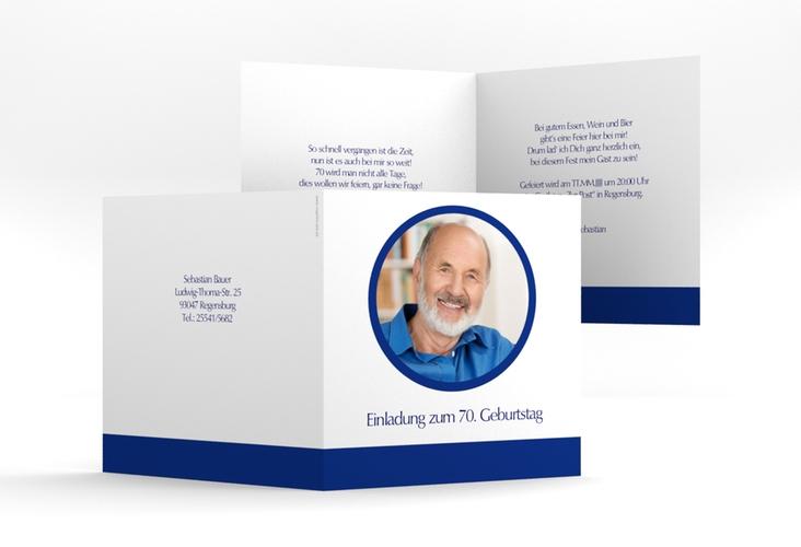 "Einladungskarte ""Anton/Antonia"" Quadratische Klappkarte"