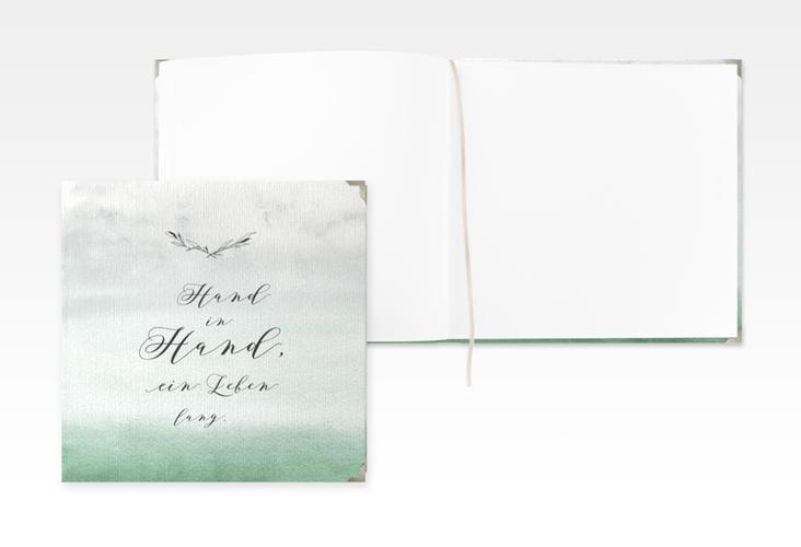 """Gästebuch Selection Hochzeit """"Divine"""" Leinen-Hardcover gruen"""
