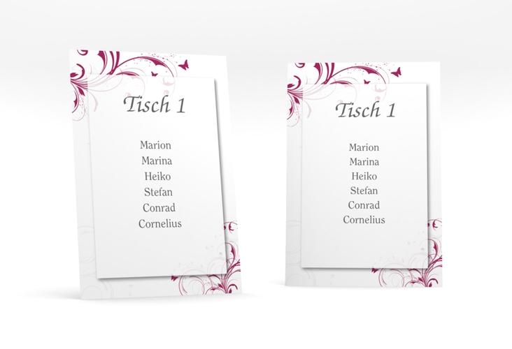"""Tischaufsteller Hochzeit """"Palma"""" Tischaufsteller pink"""