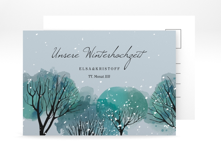 "Save the Date-Postkarte ""Winterhochzeit"" A6 Postkarte"