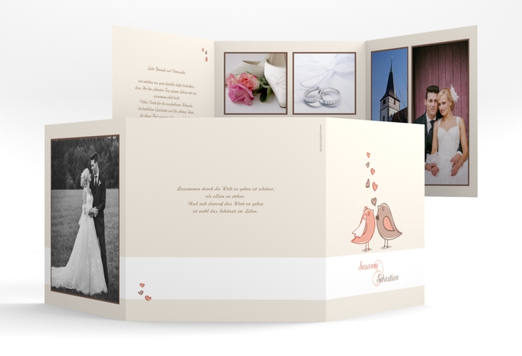 "Danksagungskarte Hochzeit ""Venedig"" Quadr. Karte doppelt"