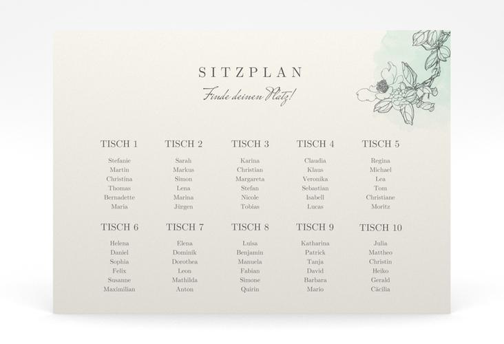 """Sitzplan Poster Hochzeit """"Artlover"""" 70 x 50 cm Poster mint"""