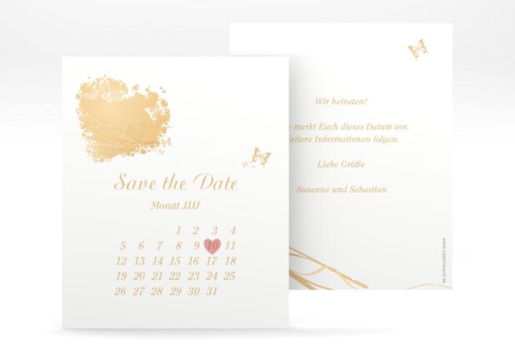"Save the Date-Kalenderblatt ""Mailand"" Kalenderblatt-Karte beige"