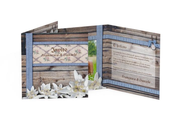 Inviti matrimonio collezione Monaco Quadratische Klappkarte