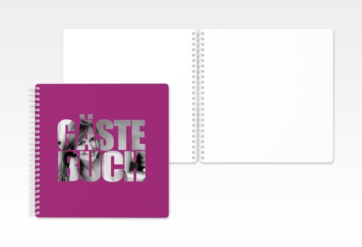 """Gästebuch Geburtstag """"Jahreszahl"""" Ringbindung pink"""