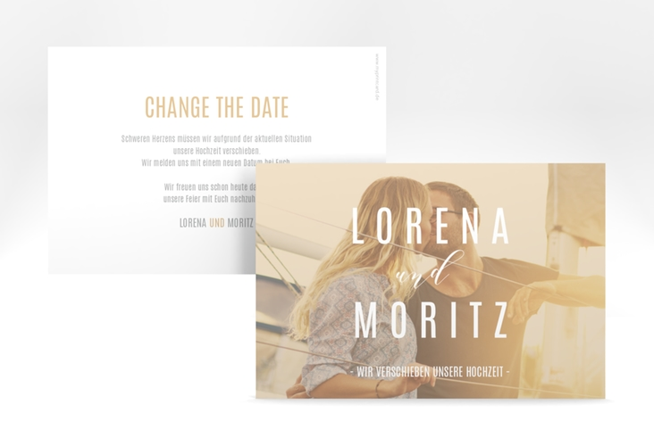 """Change the Date-Karte """"Memory"""" A6 quer beige"""