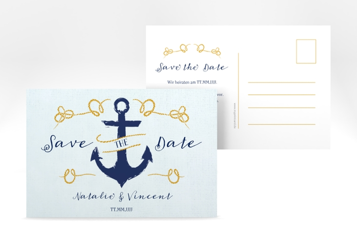 "Save the Date-Postkarte ""Anker"" A6 Postkarte"