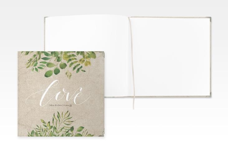 """Gästebuch Selection Hochzeit """"Botany"""" Leinen-Hardcover beige"""