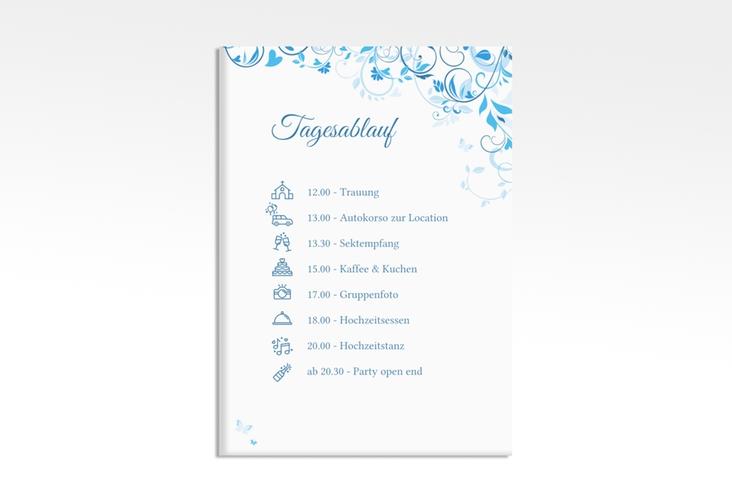 """Tagesablauf Leinwand Hochzeit """"Lilly"""" 50 x 70 cm Leinwand blau"""