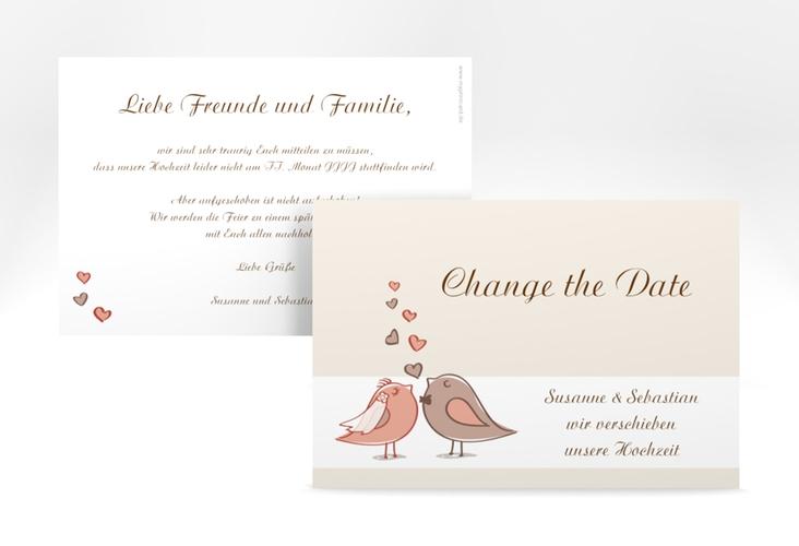 """Change the Date-Karte Hochzeit """"Venedig"""" A6 quer"""