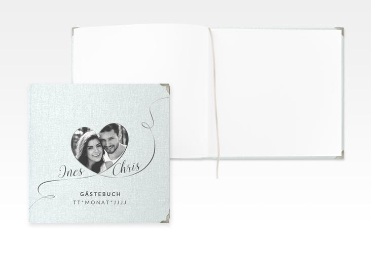 """Gästebuch Selection Hochzeit """"Dolce"""" Leinen-Hardcover tuerkis"""