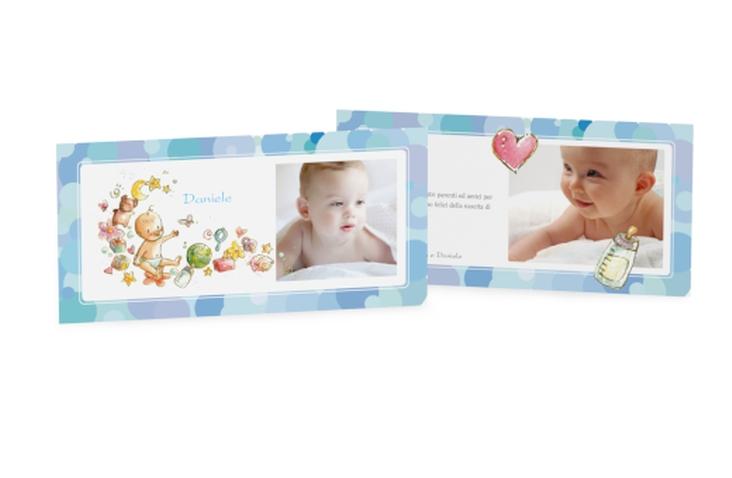 Biglietti nascita bubbles DIN lang