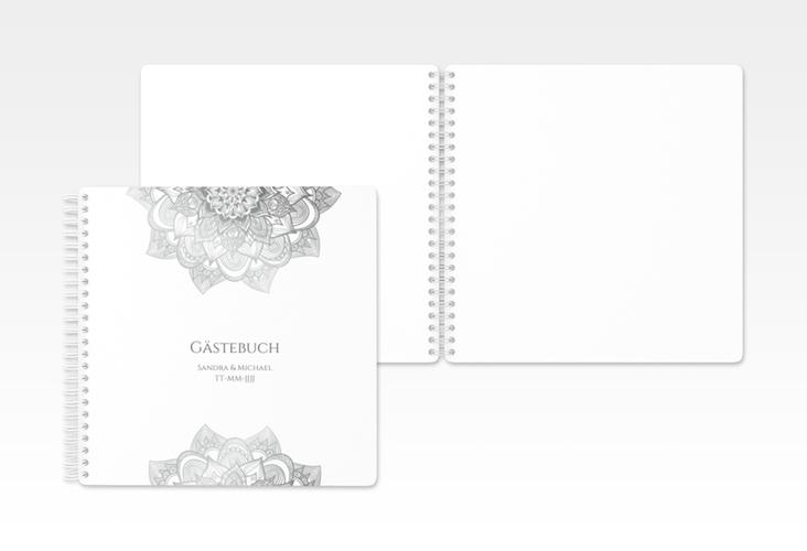"Gästebuch Hochzeit ""Delight"" Ringbindung grau"