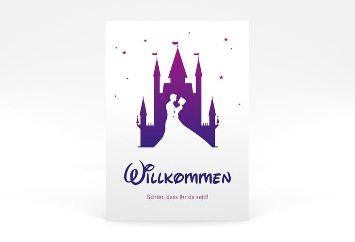 "Willkommensschild Poster ""Castle"" 50 x 70 cm Poster"