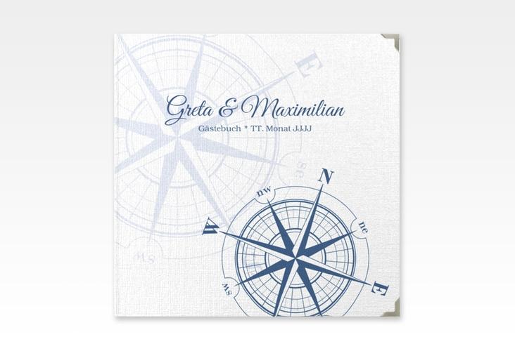 "Gästebuch Selection Hochzeit ""Windrose"" Hardcover blau"