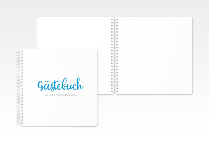 "Gästebuch Geburtstag ""Handwriting"" Ringbindung blau"