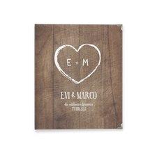"""Hochzeitsalbum """"Wood"""""""