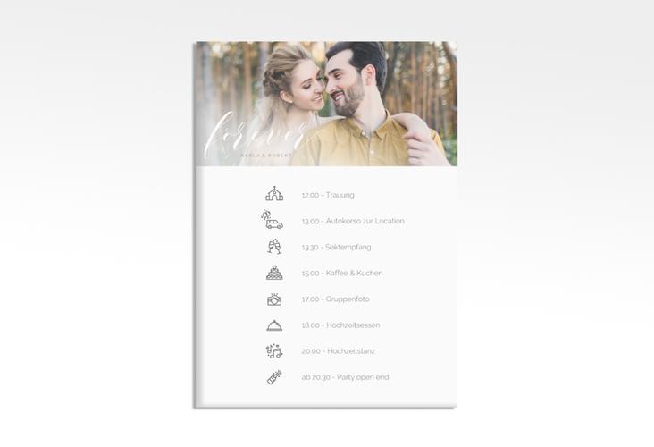 """Tagesablauf Leinwand Hochzeit """"Promise"""" 50 x 70 cm Leinwand weiss"""