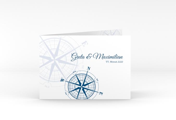 """Dankeskarte Hochzeit """"Windrose"""" A6 Klappkarte Quer"""