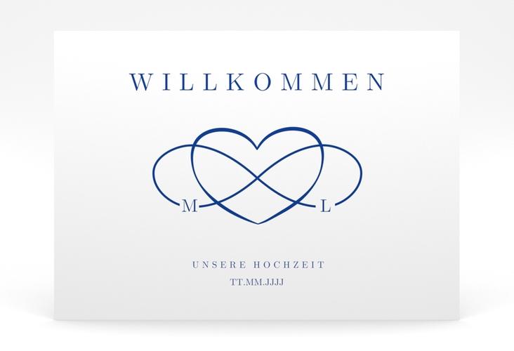 """Willkommensschild Poster """"Infinity"""" 70 x 50 cm Poster blau"""
